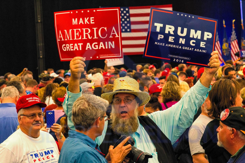 Amish Farmer at Trump Rally